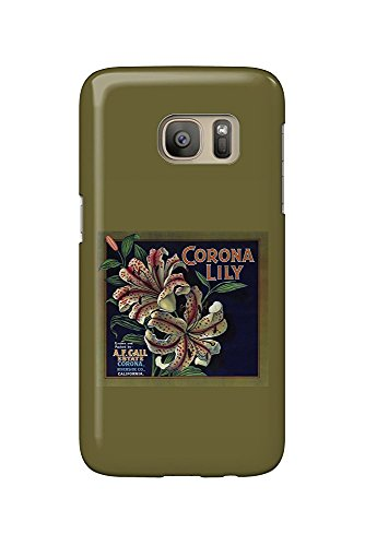 Corona Lily Orange - Vintage Crate Label (Galaxy S7 Cell Phone Case, Slim Barely There) - Orange Crate Label