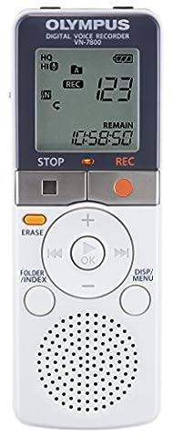 Olympus VN-7800 Non PC 4 GB Digital Recorder - White