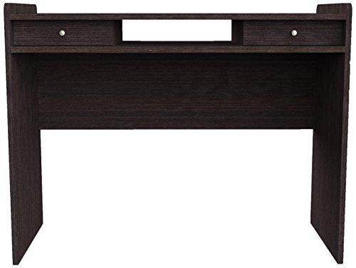 Amazon Schreibtisch (Furniture 247 Moderner Arbeitsplatz/ Heimbüro-Schreibtisch mit 2 verdeckten Schubladen - Schwarze Eiche (Black Oak))