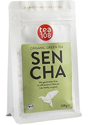 Thé vert en vrac bio – sencha chine bio – toute les vertus du thé vert en 108 tasses - certifié agriculture biologique - tea 108