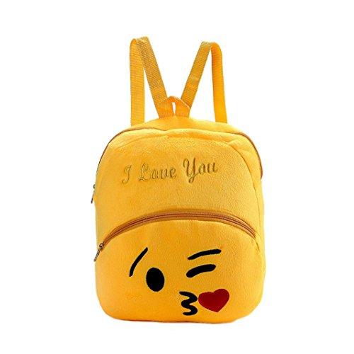 Yogogo Mignon épaule Emoji Sac À Dos Loisir Cartable Scolaire College Voyage Pour Enfant Femme Homme Backpack F
