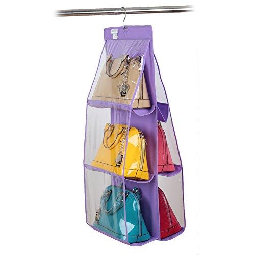 miglior prezzo Organizer con gancio per armadio, 6 tasche, ideale per borse verde