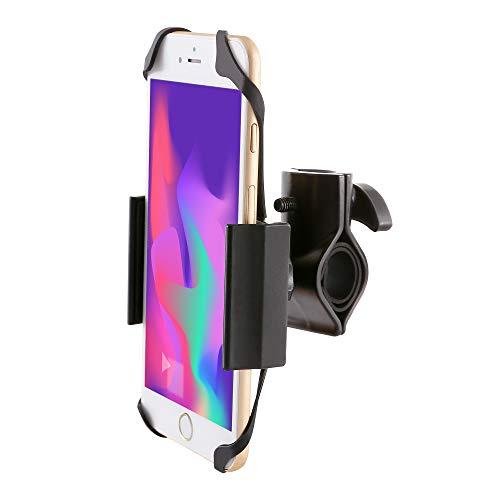 Ipow Universal Fahrrad Handyhalterung mit Metall Sockel Handy Halterung Halter, Stabile Fahrradhalterung kompetibel mit Smartphone wie iPhone Xr/ 8/ 7 / 6 Plus / 6 / 5s / se & Samsung Galaxy S7 / S6 Edge / S6 / S5 / S4 / Note 3 / Note 4 / Note Edge usw