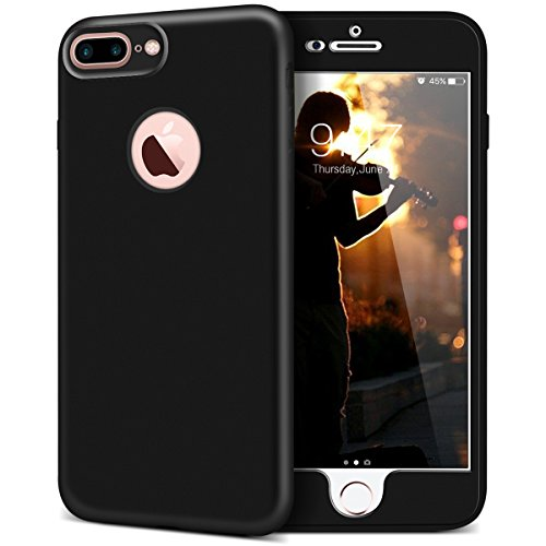 iPhone 6 / iPhone 6S Hülle, Yokata Rose Gold PC Hart Case mit TPU Silikon Weich Bumper Bling Glitzer Transparent Durchsichtig Dünn Case Schutzhülle Protective Cover Schwarz