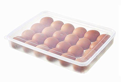 Schmuck-storage-staub-abdeckung (Hosaire 1x Aufbewahrungsbox Multifunktional Aufbewahrung Eier Carrier Container Halter für Kühlschrank Ei Rack Box Organizer mit 24 Eier Gitter)
