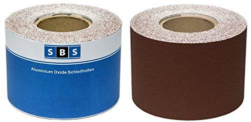 SBS Aluminiumoxid Schleifpapier-Rolle 115 mm x 10 m - Korn 120