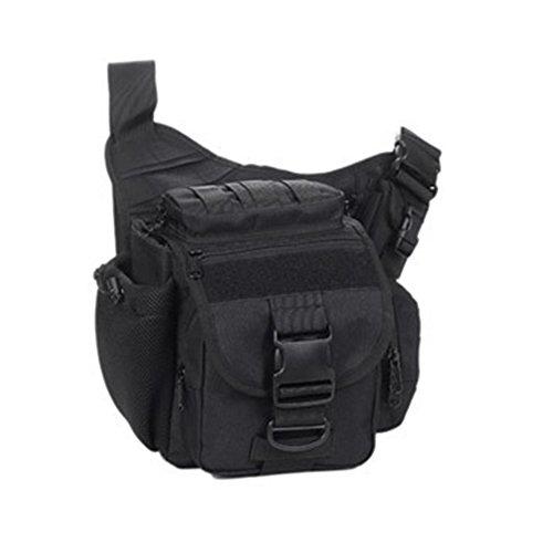 YAAGLE Tarnung satteltasches Paket bauchtasche gürteltasche hüfttasche Umhängetasche Kameratasche Outdoor Schultertasche militärisches satteltasches Paket-Tarnung 4 schwarz