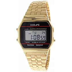 Coolife Unisex-Armbanduhr Retro Style Watches Digital Quarz Metall CL2013G920