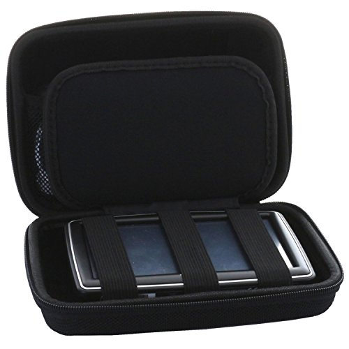Universal Hardcase Navi Tasche für 7 Zoll (17,8cm) Navigationsgeräte paassend für Becker/Blaupunkt/Garmin GPS Modelle - Navitasche Slim (Garmin-auto Gps)