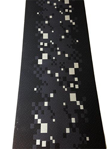 Tappeto cucina 67 X 300 design pixel geometrico nero grigio lavabile ...