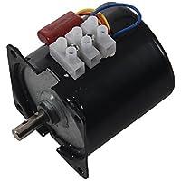 TOOGOO(R) AC 220V 110 RPM 14W 7mm Diametro Del Eje Maquina Sincronico Engranaje Para Motor