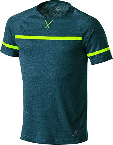 Pro Touch Herren Rafi T-Shirt, Melange/Blue Aqua/Yellow, M -