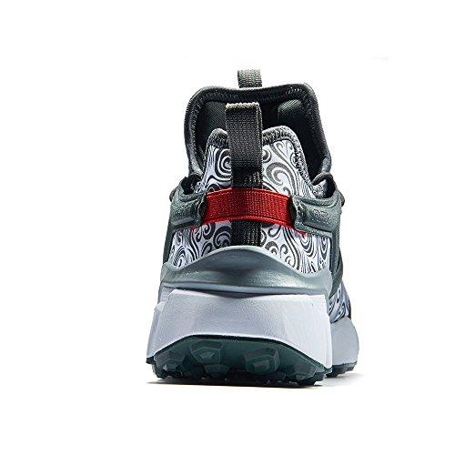 Scarpe da corsa da uomo RAX Ammortizzazione Maglia da allenamento Scarpe da corsa multifunzionali classiche Scarpe da ginnastica leggere da papavero sportive grigio verde