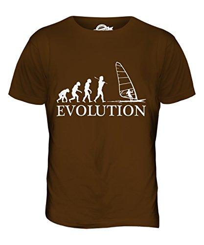 CandyMix Windsurfen Evolution Des Menschen Herren T Shirt Braun
