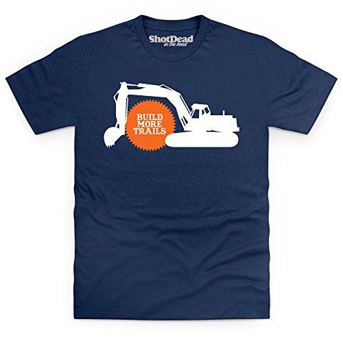 Build More Trails T-Shirt, Herren Dunkelblau