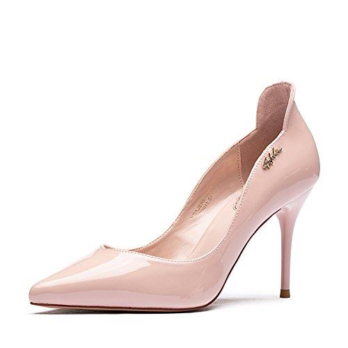 Lady chaussures à talons hauts en automne/Chaussures de cuir verni talons pointes métalliques mode féminine B