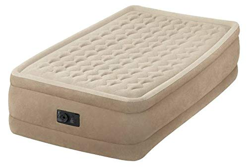 Intex Matelas électrique Gonflable 1 Place Intex Ultra Plush Fiber-Tech