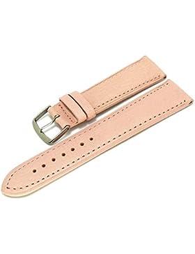 Meyhofer Uhrenarmband Alvesta 16mm rosa abgenäht vegetabil MyHeklb27/16mm/rosa/TiT