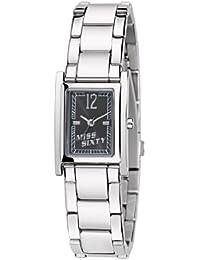 Miss Sixty SQF007 - Reloj analógico de cuarzo para mujer con correa de acero inoxidable, color plateado