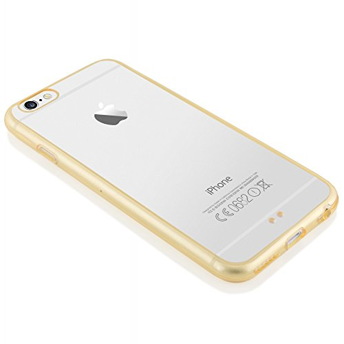 iPhone 6 6S Hülle Handyhülle von NICA, Durchsichtiges Slim Silikon Case mit Transparenter Rückseite & Bumper, Dünne Schutzhülle Handy-Tasche Back-Cover für Apple iPhone 6S 6 - Transparent Transparent / Champagner