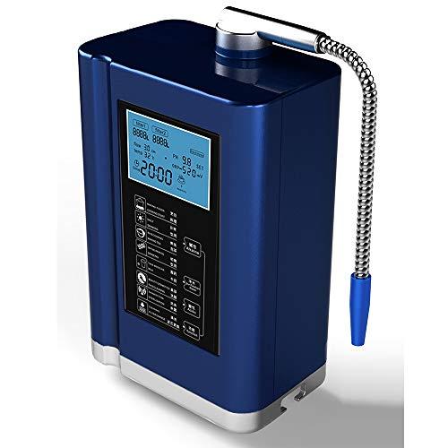 Alkalische Wassermaschine, Wasser-Ionisator-Wasserfilter-Maschine mit LCD-Anzeige Entfernen Sie schädliche Substanzen,Blue