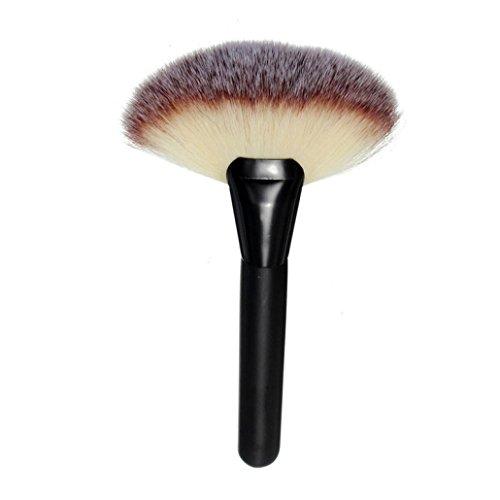 feiXIANG make - up brush für Frauen erröten brush puder brush Foundation Pinsel Neu Weich Make-up Pinsel stiftung kosmetische pinsel Große fächerförmige Ladies Rouge pinsel (schwarz)