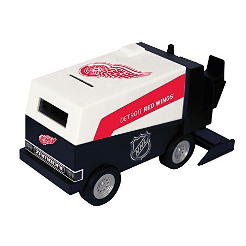 nhl-hockey-detroit-red-wings-digital-electronic-zamboni-coin-counting-bank-by-nhl