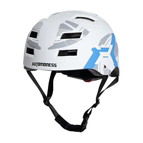 Automoness Skaterhelm, Radhelm Kinderhelm Sporthelm Bike Helmet Fahrradhelm CE-Zertifizierung, 6 Größen für Erwachsene, Jugendliche, Kinder, geschützt für Fahrrad,...