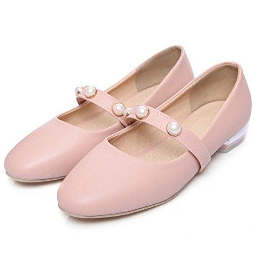 pink a Femmes TAOFFEN Escarpins Enfiler UgIxw