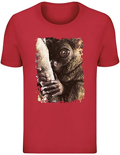 Tarsier Baum Hugger - Tarsier Tree Hugger T-Shirt Top Short Sleeve Jersey for Men 100% Soft Cotton Mens Clothing Medium -