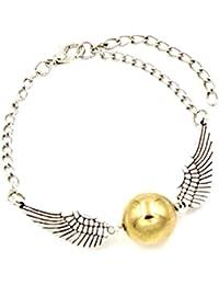 Bracelet Harry potter balle magique le Vif d'or Quidditch ailes argent