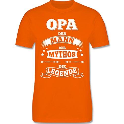 Shirtracer Opa - Opa Die Legende - Herren T-Shirt Rundhals Orange