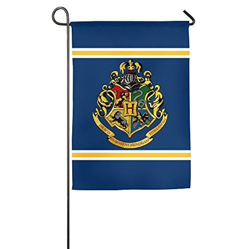 Portada del libro k-fly2personalizado Harry Potter Hogwarts Logo casa bandera bandera de Jardín dos tamaños