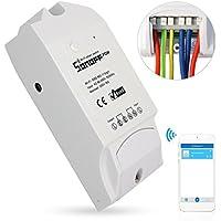 Sonoff Pow WiFi Inalámbrico Interruptor ON/Off 16A Con Medición del Consumo De Energía en Tiempo Real de Electrodomésticos IOS Android Remoto (Funciona con Alexa (Amazon Echo, Echo Dot y Amazon Tap)