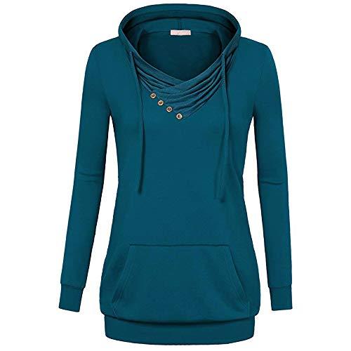 GongzhuMM Col Bénitier Femme Sweat À Capuche Sweat Shirt Hoodie Femme Automne Hiver Pullover Outwear Shirt Chemisier
