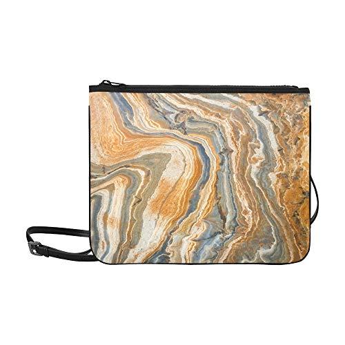 WOCNEMP Schöne unregelmäßige Beschaffenheit des Granit-Musters kundenspezifische hochwertige Nylon-dünne Handtasche Umhängetasche Umhängetasche -