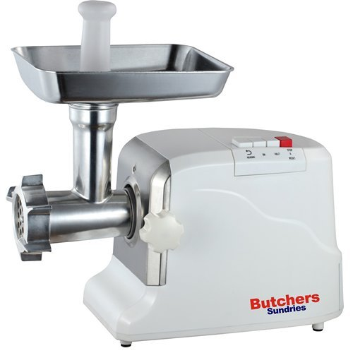41chCy32zLL. SS500  - Butchers Sundries Heavy Duty Electric Meat Mincer Grinder and Sausage Maker | Includes 3 Sausage Making Attachments | 3 Heavy Duty Cutting Plates and Food Pusher