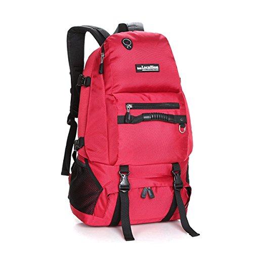 Mode Schulter Tasche Wasserdicht Nylon Rucksack Im Freien Rucksack Red