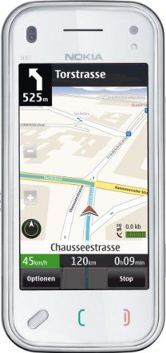 Nokia N97 mini Smartphone (UMTS, WLAN, GPS, 5 MP, Ovi Karten, QWERTZ-Tastatur) white inkl. Car-Kit Mini N97 Handy