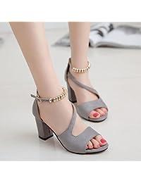 SHOESHAOGE Dick Mit Sandalen Weiblichen Geschlitzten Lasche Für Frauen Schuhe In Der Dew-Toe High-Heel Schuhe, Eu 40