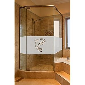 Folie Sichtschutz Aufkleber Glasdekorfolie Bad Dusche Duschwand Badezimmer Glasdekor Höhe ca. 50 cm GD30