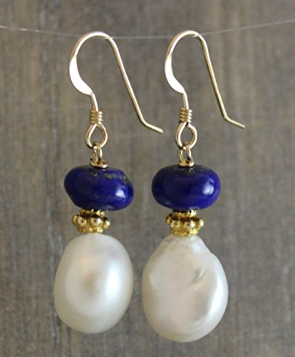 cultured-nugget-freshwater-pearl-lapis-14kt-gold-filled-earwires-earrings