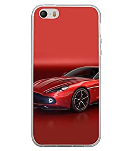 Fuson Designer Back Case Cover for Apple iPhone 4S (Red Red car Red Sports Car Stunning Car Race Car)