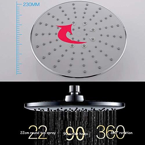 AG Modernes europäisches 4-in-1-Duschsystem von Simplicity mit 8-Zoll-Regenduschkopf, 3-Funktions-Handbrause, Verstellbarer Gleitschiene und poliertem Spritzlack