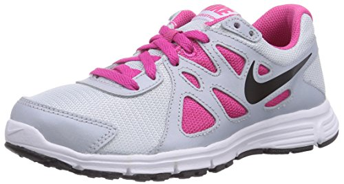 Nike Revolution 2 GS, Mädchen Laufschuhe, Mehrfarbig (Pro Platinum/Black-Heather Pink-Metallic Platinium 010), 38.5 EU (5.5 Kinder UK) - 2 Nike Mädchen Revolution
