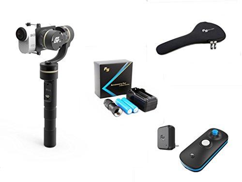 Preisvergleich Produktbild FeiYu G4 GS 3 Achse Handheld B¨¹rstenlos Kardanischen zum AS Series Camera HDR AS20 AS100 AS200 X1000V + Tragetasche + Verlngern & Batterie-Extender Kit + Kabellos Fernbedienung