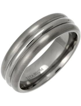 Theia Unisex-Ring Titan Court Dreifach Geprägte 7mm