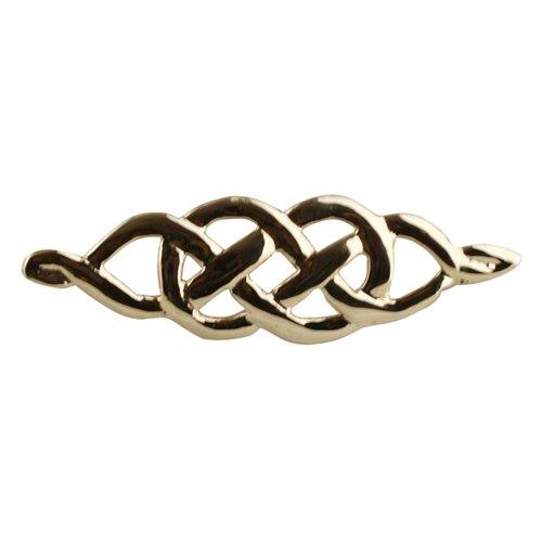 9ct Gold 9x35mm celtic knot design Brooch