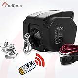 ROTFUCHS Elektrische Seilwinde 12V 4990 KG mit Funkfernbedienung