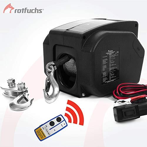 ROTFUCHS® Elektrische Seilwinde 12V 4990 KG mit Funkfernbedienung